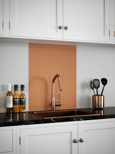 Copper Self-Adhesive Glass Splashback