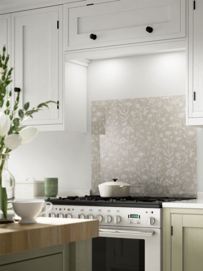 Laura Ashley Lisette Flint Self-Adhesive Glass Splashback