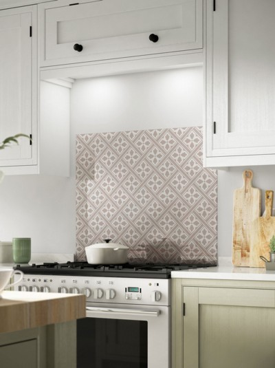 Laura Ashley Mr Jones Dove Grey Self-Adhesive Glass Splashback