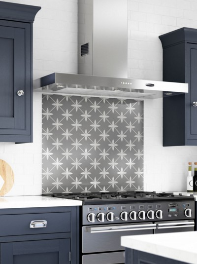 Laura Ashley Wicker Charcoal Self-Adhesive Glass Splashback