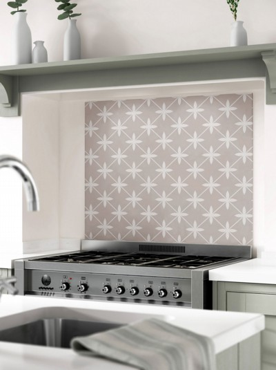 Laura Ashley Wicker Dove Grey Self-Adhesive Glass Splashback
