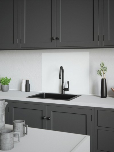 House Beautiful Iridescent White Self-Adhesive Glass Splashback