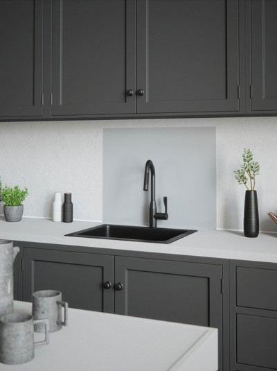 House Beautiful Platino Self-Adhesive Glass Splashback