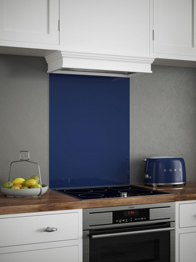Midnight Blue Self-Adhesive Glass Splashback