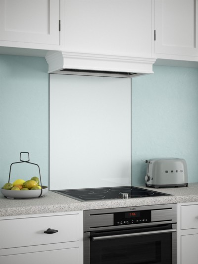 White Mist Self-Adhesive Glass Splashback
